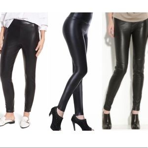 Leith Faux Leather Stretchy Leggings Size Medium